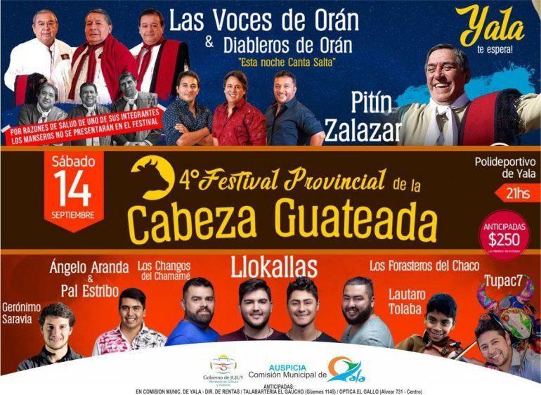 Se viene el Festival Provincial de la Cabeza Guateada en Yala