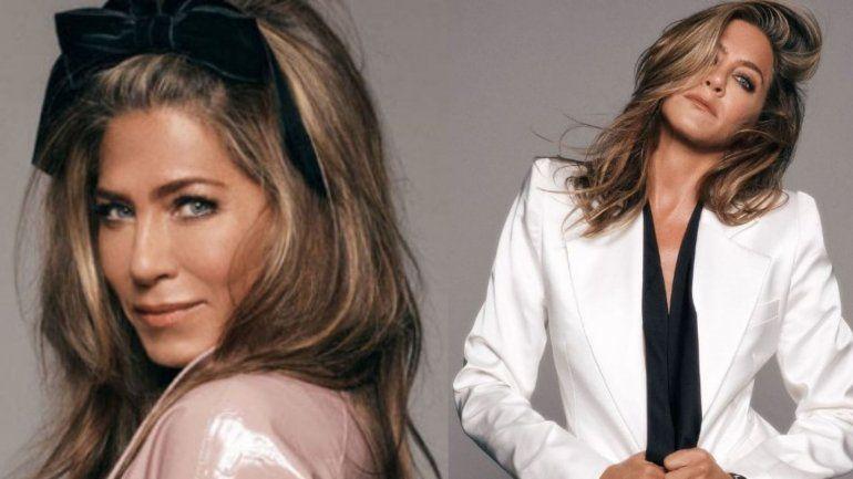 Con la moda de los 70, Jennifer Aniston en las portadas para Instyle Magazine