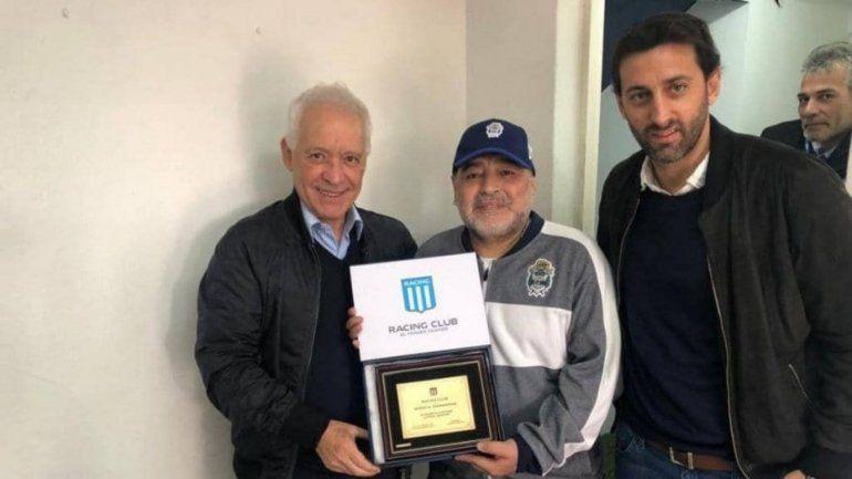 El encuentro entre El Diego, Víctor Blanco y Diego Milito