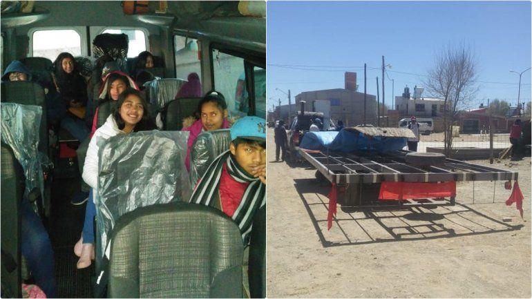 Los chicos de Abra Pampa ya viajan a la Ciudad Cultural con su carruaje