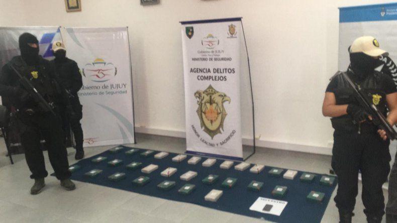 Incautaron más de 30 kilos de cocaína en Purmamarca: dos detenidos