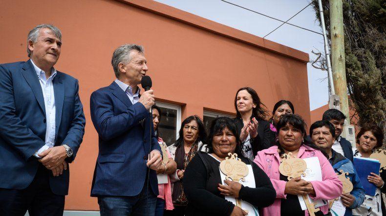 Macri en Volcán: Cada día más argentinos vienen a visitarlos y a enamorarse de lo que son
