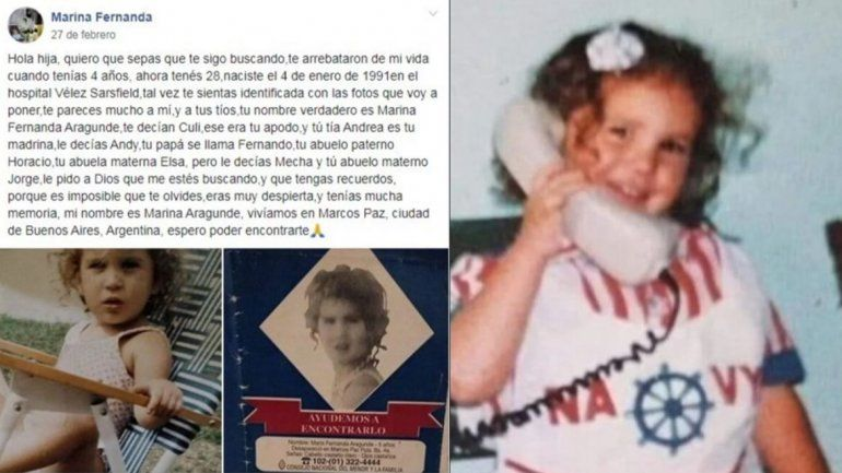 24 años después de que la raptaran de su casa se reencontró con su mamá