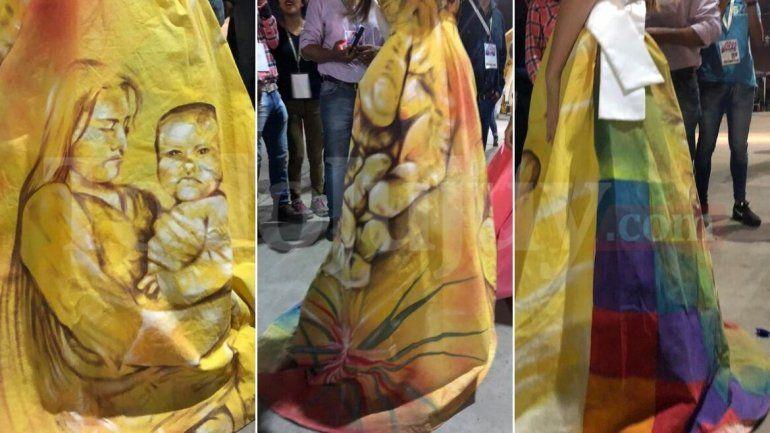 La reina de Formosa y un vestido que homenajea a las mujeres wichis de su provincia