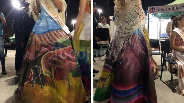 Jujuy-Buenos Aires: la combinación de dos culturas en un vestido impactante