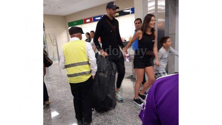 Juan Martín del Potro llegó a Jujuy a visitar a la familia de su novia Sofía Jiménez