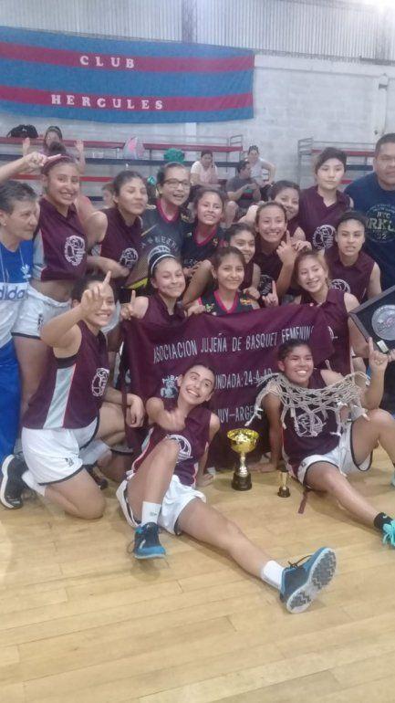 Básquet femenino: Jujuy se coronó campeón del regional U15