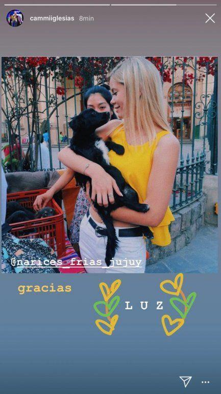 Camila Iglesias: Si tienen la posibilidad de adoptar un perrito háganlo