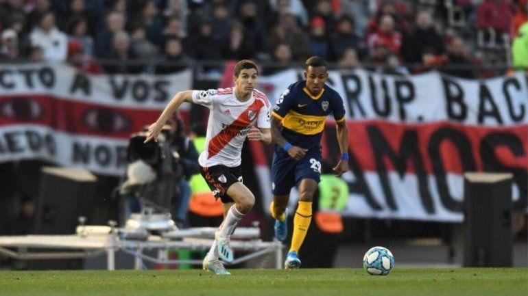 River-Boca: el Millonario se impone 2 a 0 ante el Xeneize en el primer tiempo