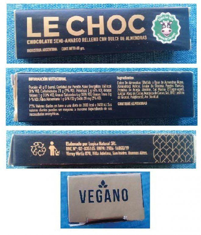 Prohíben en todo el país la venta de un chocolate vegano semi amargo