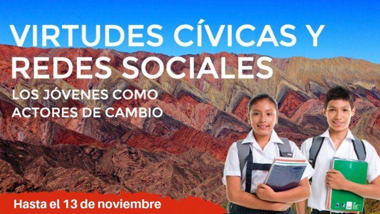 Concurso de ensayos para estudiantes del secundario sobre virtudes cívicas y redes sociales