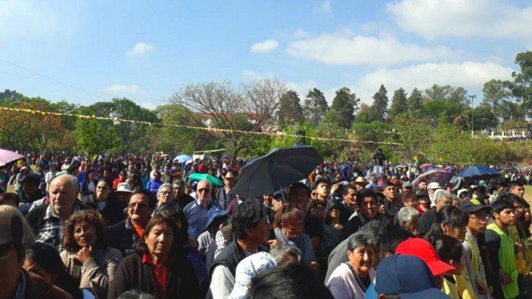En el primer día de peregrinación multitudinaria demostración de fe a la Virgen de Río Blanco