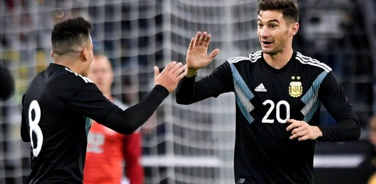 Argentina empató 2 a 2 con Alemania en Dortmund