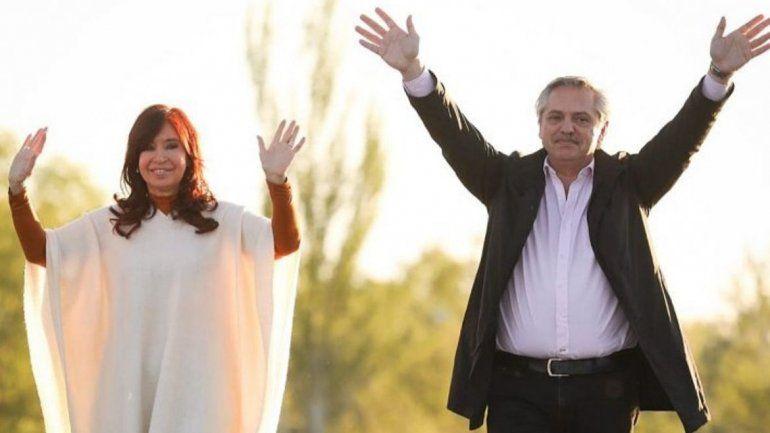 Cristina y Alberto se mostraron juntos en el día de la Lealtad Peronista