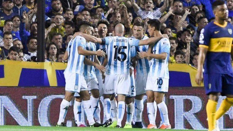 Racing dejó herido a Boca y se acerca a la punta de la Superliga