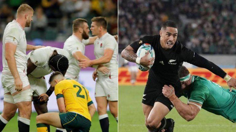 Inglaterra y Nueva Zelanda ganaron sus partidos sin complicaciones y son semifinalistas