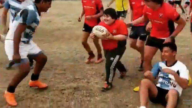 Rugby inclusivo en Jujuy: Benjamín marcó el try de su vida y emocionó a todos