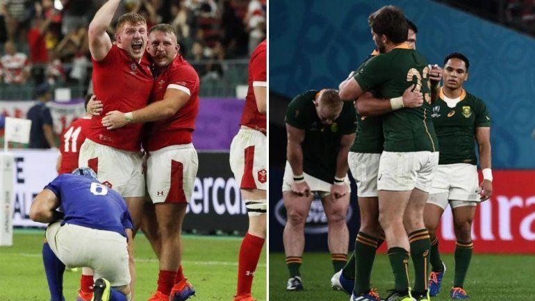 Sudáfrica y Gales son semifinalistas del Mundial de Rugby