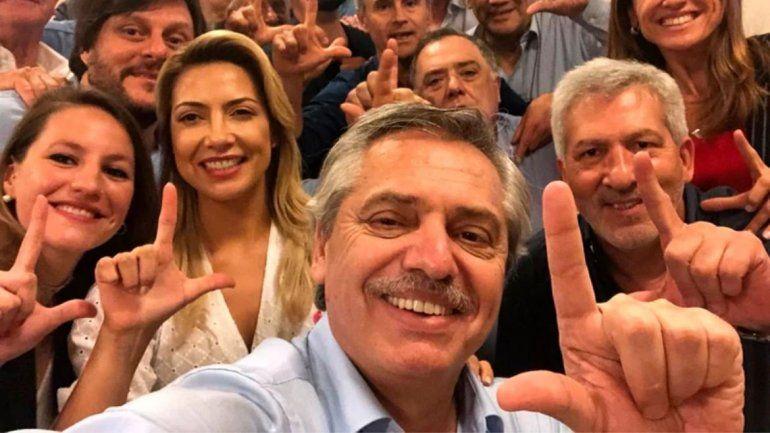 Alberto Fernández festejó con sus íntimos antes del anuncio de los resultados
