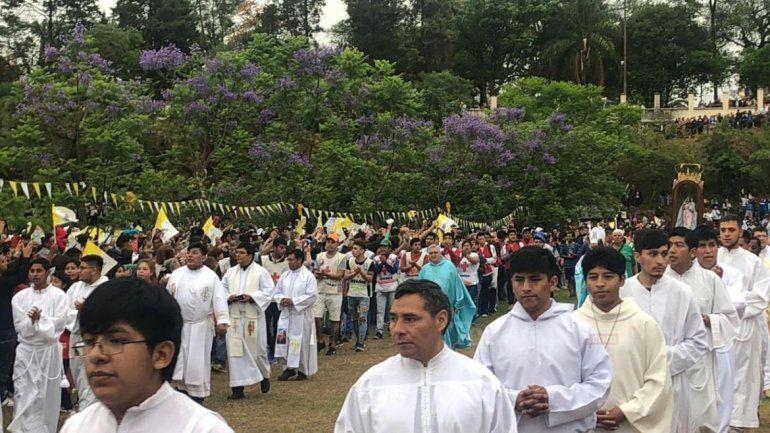 Jóvenes de todos los puntos de la provincia llegaron a honrar la Virgen de Río Blanco