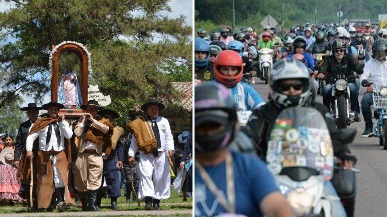 El sábado peregrinan los gauchos y las motos a Río Blanco