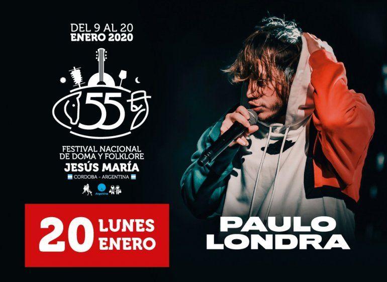 Paulo Londra en la noche extra del Festival de Doma y Folklore de Jesús María