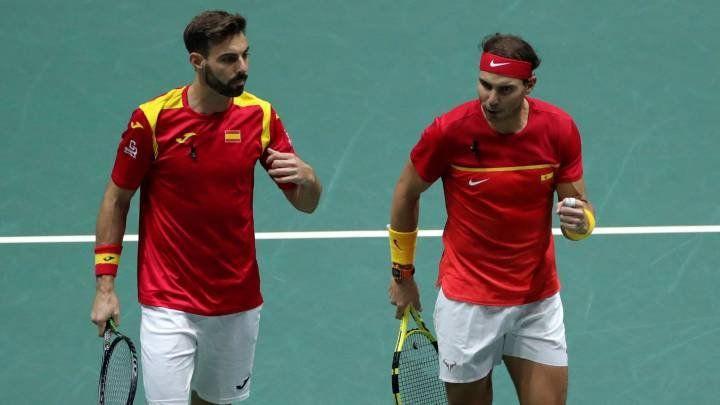Argentina cayó ante España en el partido de dobles y quedó afuera del torneo