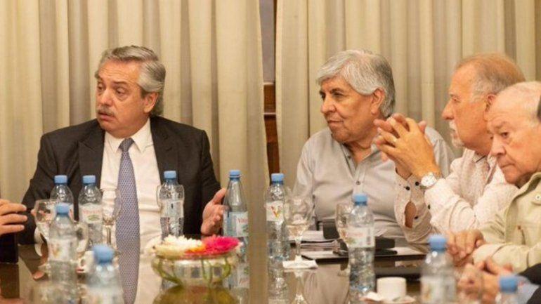 Moyano y 40 sindicalistas almorzaron con Alberto Fernandez