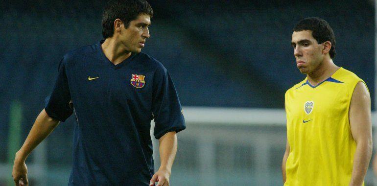 Riquelme quiere que Tevez siga en Boca: Me gustaría que se retire en el club