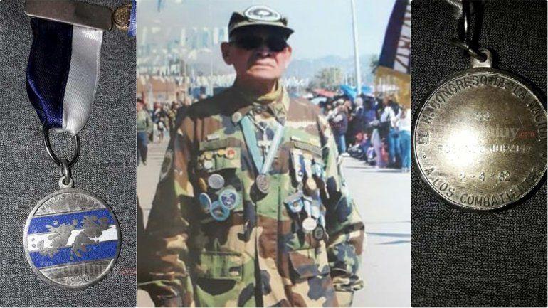 Un veterano de Malvinas jujeño perdió su medalla de la guerra y la busca desesperadamente