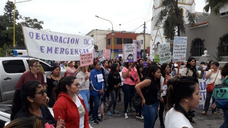 Marcha Tania Palacios . Foto: AQN