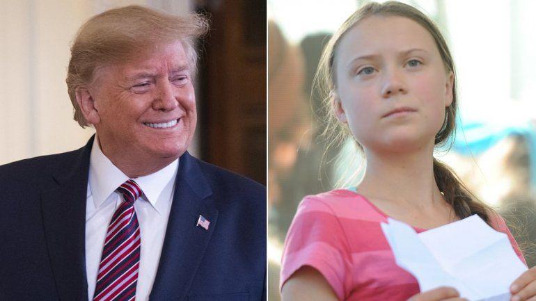 Donald Trump vs. Greta Thunberg: el Presidente denunció catastrofismo y la joven acusó que no se ha hecho nada
