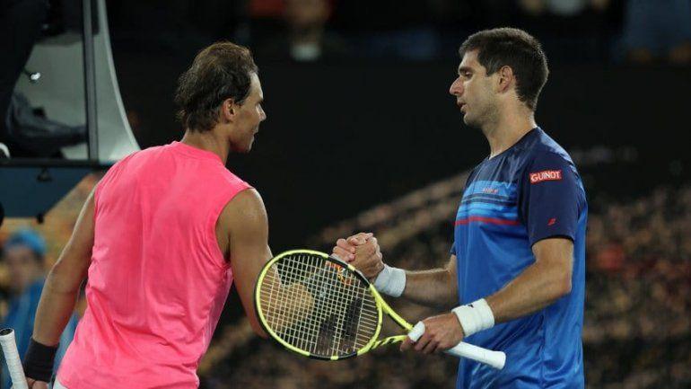 Delbonis no pudo con Nadal y quedó eliminado en Australia