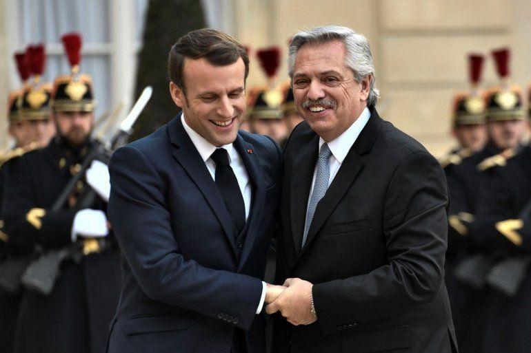 Macron a Alberto Fernández: Francia acompañará a la Argentina con el FMI