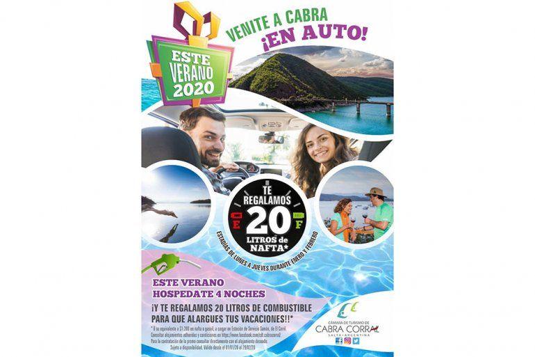 Habrá nafta gratis para todos los que vayan en auto al dique Cabra Corral de Salta