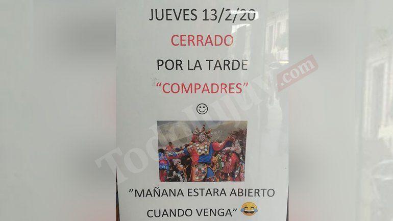 Jujuy en modo diablo: Un comercio cierra toda la tarde por el Jueves de Compadres