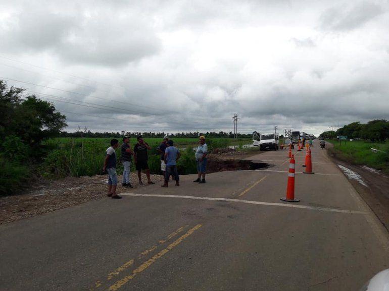 Las lluvias provocaron graves daños en la ruta N° 34