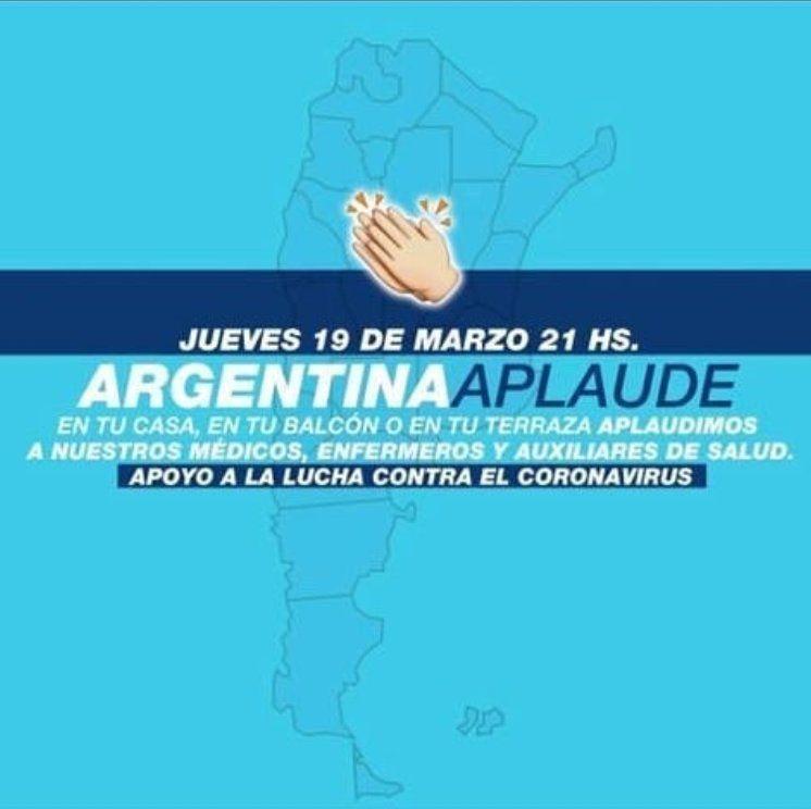 Argentina aplaude a los profesionales de la salud