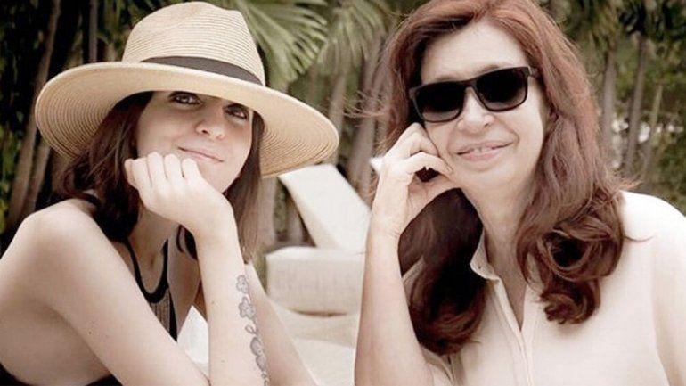 Cristina Kirchner y su hija Florencia