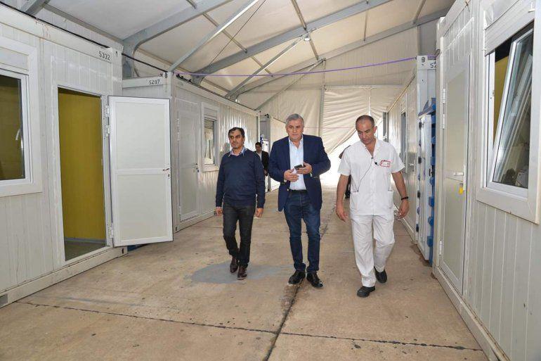 El Gobernador recorrió las obras del Hospital de Campaña