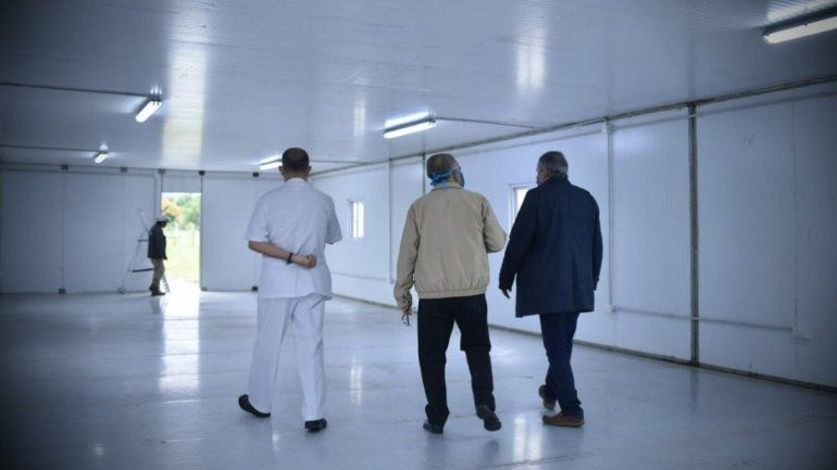 San Pedro: etapa final del armado del hospital de campaña