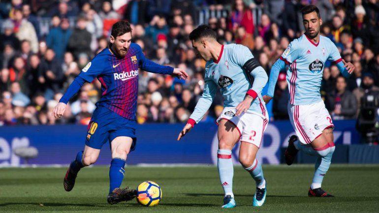 El Celta de Vigo complicó al Barcelona de Messi en la Liga