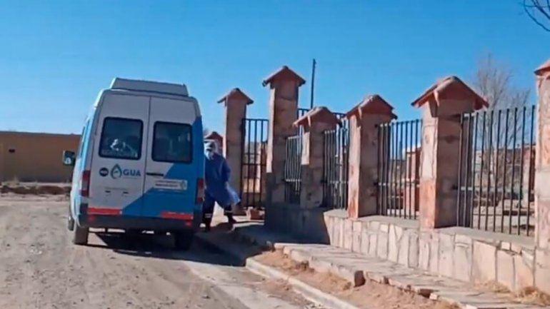 Abra Pampa: así llegaron 9 pacientes con coronavirus al hospital de campaña
