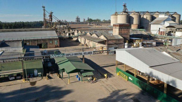 La planta de Vicentin en la provincia de Santa Fe.