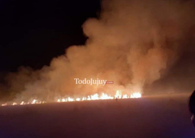 Incendio descontrolado en una localidad puneña
