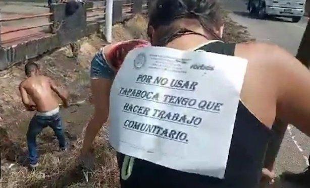 Venezuela: trabajos forzados a quienes no usan mascarillas
