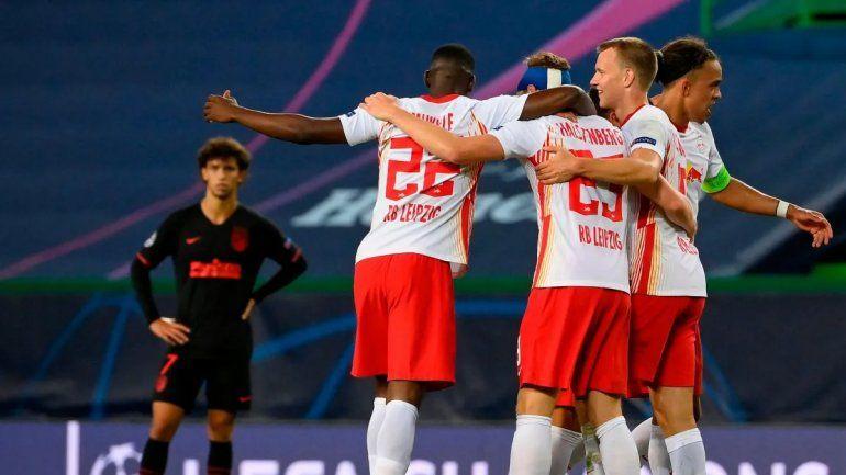 El Atlético de Madrid quedó eliminado ante el Leipzig