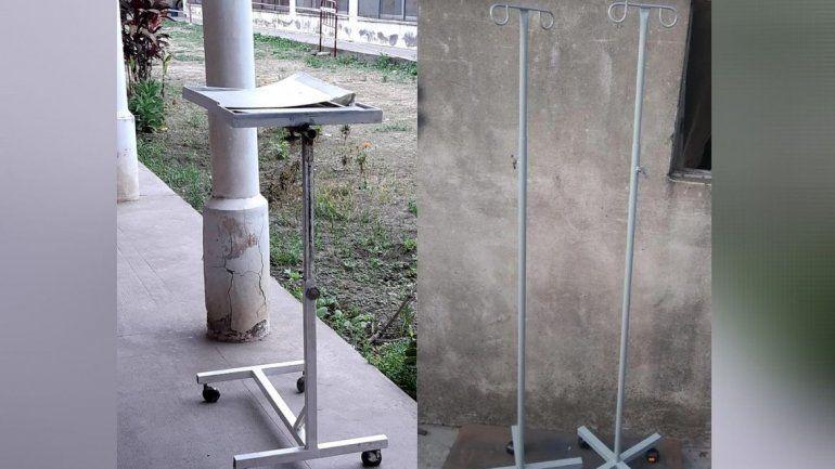 Piden ayuda para fabricar porta sueros para el Hospital de La Esperanza