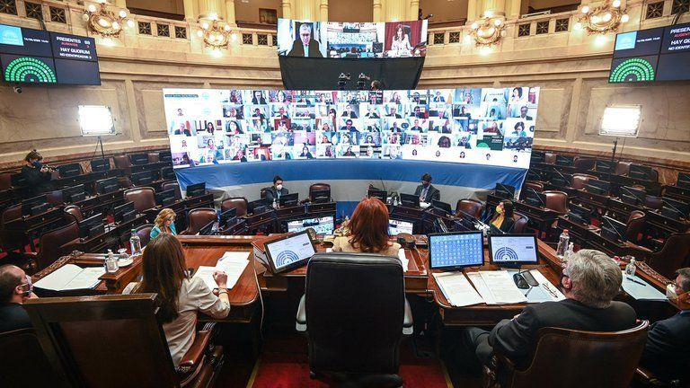 La oposición abandonó la sesión en el Senado