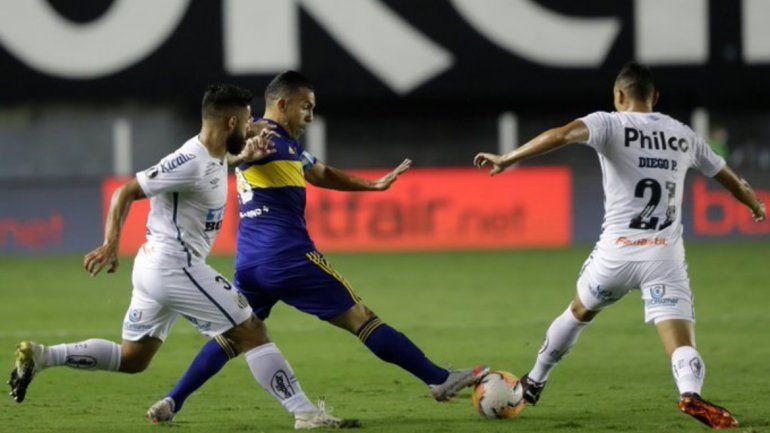 Boca eliminado de la Copa Libertadores:perdió 3-0 con Santos